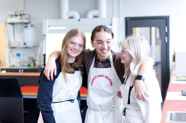 elever på naturvetenskapsprogrammet